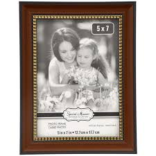 special moments brown picture frames with gold beaded inner edges 5x7 in