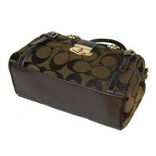 Coach Willis Lock Logo Signature Medium Coffee Luggage Bags BRG