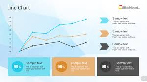 Chart Presentation Images Powerpoint Line Chart With Percentage Metrics Slidemodel