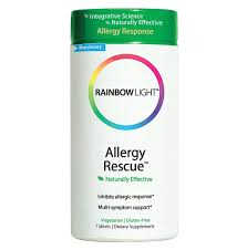 Rainbow Light Rejuvenage 40 Allergy Rescue Non Drowsy 60 Tablets Rainbow Light