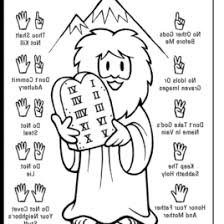 Free Printable Ten Commandments Coloring Pages Coloring