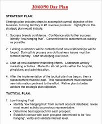 30 60 90 Business Plan 10 Awesome Free 30 60 90 Day Sales Plan Template Download