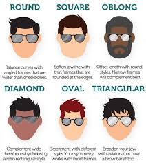 Glasses And Face Shape Chart This Chart Helps You Choose The Best Sunglasses For Your