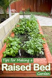tips for making a raised bed garden