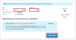 Your Bids Bidding On Projects Project Freelancer Support