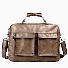 <b>High Quality Leather</b> Briefcase Multi pocket Mens Handbag ...