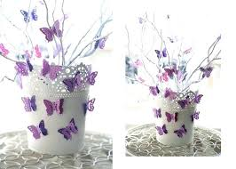 Paper Flower Branches Flower Pot Decoration Summer Decorating Ideas Flower Pot Branches