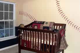 image of baseball crib bedding idea