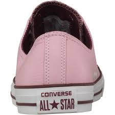 converse mens ct all star ox seasonal leather trainers baby pink white purple