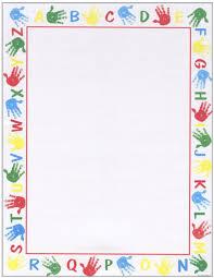 Alphabet Border Letterhead 25 Count Geo46044 Designer Papers Decorative Printer Paper Printable Paper Christmas Stationery