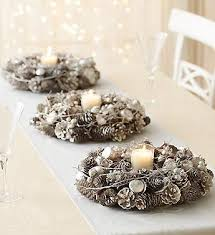 Whether for your door or for a Christmas table centerpiece, platinum Christmas  wreaths make for