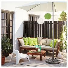 """PPLAR– 3 seat sofa outdoor Brown stained h¥llö beige 223x80x73"