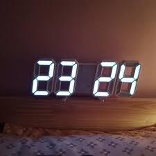 modern wall clock timer 3d led digital
