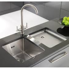 image of contemporary undermount stainless steel kitchen sink