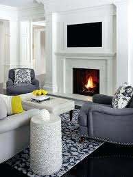 tv above fireplace wall unit designs over