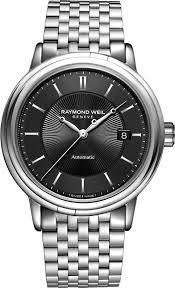 2847 st 20001 raymond weil maestro mens black dial steel bracelet raymond weil maestro 2847 st 20001 image 0