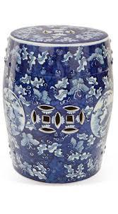 InStyle-Decor.com Beverly Hills Beautiful Chinese Blue & White Free Hand Ceramic  StoolCeramic Garden ...