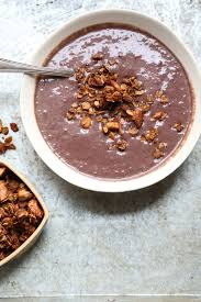 a frozen acai bowl recipe with cashew coconut granola a healthy version of the