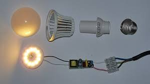 incandescent a19 lighting legislation. disassembled led-light bulb with driver circuit board and edison screw incandescent a19 lighting legislation