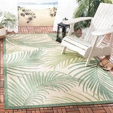safavieh palm leaf beige green 5 ft 3