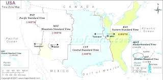 Map Of Time Zones Usa Pergoladach Co