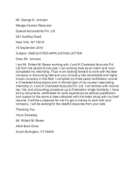 Sample Cover Letter Unsolicited Application Cover Letter 5
