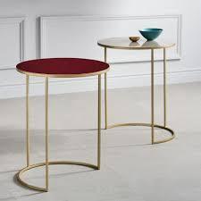enamel round nesting tables set of 2 west elm round c table