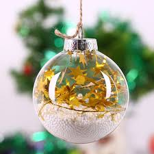 Us 258 Weihnachten Glaskugel Christbaumschmuckgold Star String Weißer Schaumhochzeit Ornament Notwendig Decor Diy Fillable 8 Cm In Weihnachten
