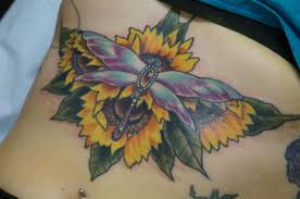 Color Sternum Flower And Dragonfly Tattoo Love N Hate