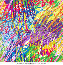 Colorful paint splatters seamless pattern.
