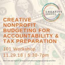 Nonprofit Budgeting Creative Sonoma Workshop Nonprofit Budgeting For