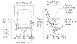 desk chair dimensions. Exellent Chair Breathtaking  Intended Desk Chair Dimensions O