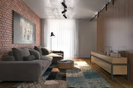 White Exposed Brick Wall Small Studio Apartment Brick New On Innovative Marwan S Double