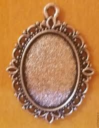 all for jewelry making handmade livemaster handmade pendant base pendant