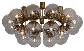 large vintage chandelier with 20 hand blown glass globes