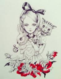 julie filipenko alice white rabbit cheshire cat painting the roses red tea time alice in wonderland mad hatter cheshire cat cheshire cat