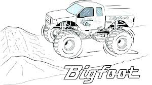 Attractive Ideas Monster Truck Coloring Pages To Print Digger