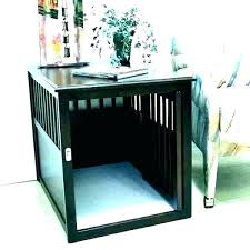 end table kennel plans coffee dog crate side tables ca dog kennel table