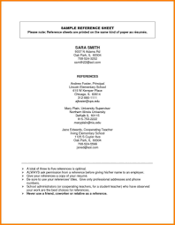 Reference Samples For Resume Resume And Reference Template Resume References Template