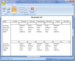 How To Make Schedules For Employees Free Employee Shift Scheduling Spreadsheet