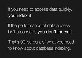 Database Index Design The Not So Dark Art Of Designing Database Indexes