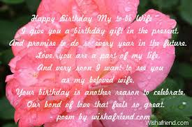 girlfriend birthday poemshappy birthday my to be wife