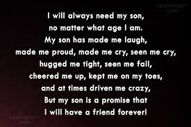 To My Son Quotes New Son Quotes And Sayings Images Pictures CoolNSmart