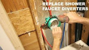 picture of how to replace shower faucet diverters without soldering copper pipes