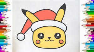 Cùng Bé Tập Vẽ và tô màu pikachu phim hoạt hình pokemon | HOW TO DRAW CUTE  CHRISTMAS PIKACHU - Chia sẻ miễn phí tại Foci - Foci - Thời Trang Cao