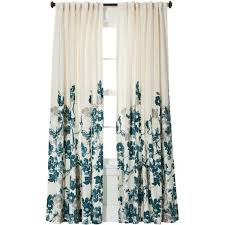 threshold climbing vine curtain panel teal blue 24 liked on polyvore featuring