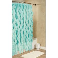 beautifully idea ruffled shower curtain cascade voile