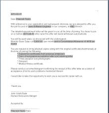 Employment Letter Example Custom ASF