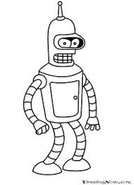 Small Picture Futurama Coloring Pages Bestofcoloringcom