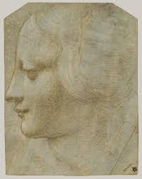 leonardo da vinci essay heilbrunn timeline of art   head of a w in profile to lower left